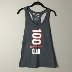 pure barre l Black & Red 100 pure barre club tank